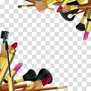 assorted-color makeup brushes, Cosmetics Makeup brush Make-up artist, Makeup Tools PNG clipart