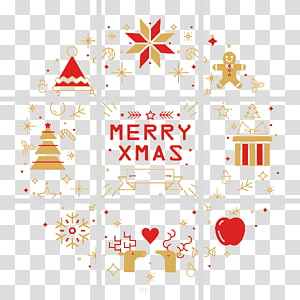 Squares Christmas Greeting PNG clipart
