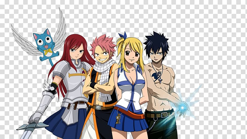 Erza Scarlet Natsu Dragneel #1 Gray Fullbuster Happy Lucy Heartfilia, Fairy Tail Free PNG clipart