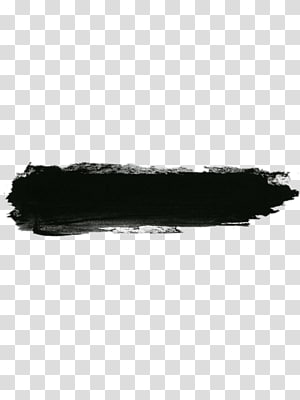 black ink brush PNG clipart