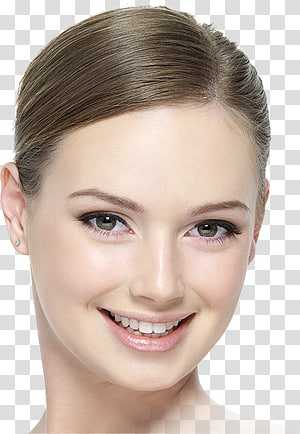 Foundation Mineral cosmetics Face Powder Inika Pressed Powder 8g Freedom 8 gr, model looking in mirror reflection PNG clipart
