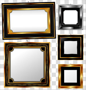 assorted-color frames, frame , Europe golden frame PNG clipart