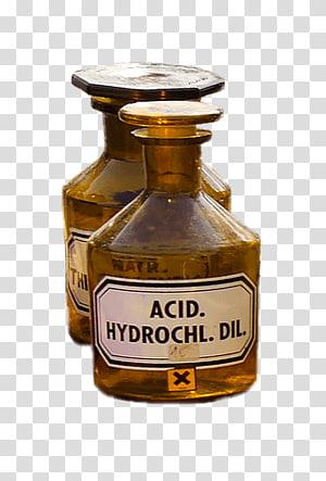 acid hydrocil bottle, Pharmacy Flasks Acid PNG clipart