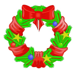 Wreath Christmas , holly wreaths PNG clipart