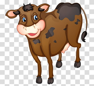 Texas Longhorn English Longhorn Brown Swiss cattle graphics, cartoon of tractor PNG clipart