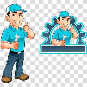 repair man illustration, Handyman Illustration, repairman PNG