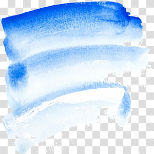 Watercolor painting Paintbrush, Blue watercolor brush graffiti, blue and white shade artwork PNG clipart
