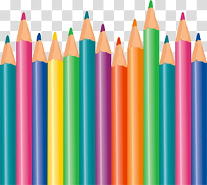 assorted-color pencil lot , Colored pencil Drawing Pen & Pencil Cases, CRAYONS PNG clipart