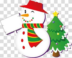 Holiday greetings Christmas and holiday season Happiness, snowman PNG
