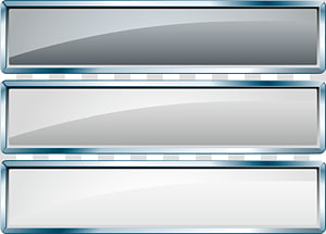 three rectangular gray empty boxes illustration, Web banner, Silver label banners PNG