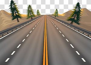 road and trees illustration, Euclidean Road, road PNG clipart