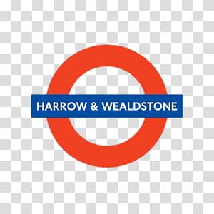 round red and blue Harrow & Wealdstone logo, Harrow & Wealdstone PNG