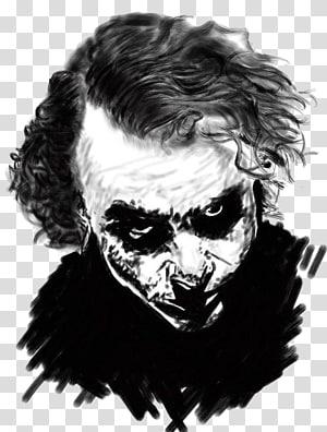 Joker Batman Black and white The Dark Knight Returns, joker PNG clipart