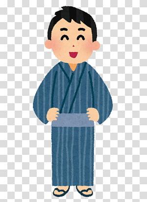 Kimono Yukata Jinbei Obi Geta, kimono male PNG clipart