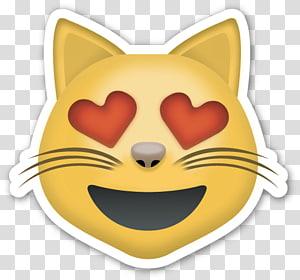 emoticon illustration, Emoticon Cat PNG clipart