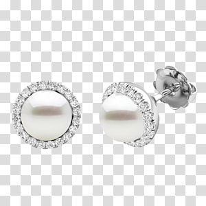 Pearl Earring Diamond Jewellery Wedding ring, Cultured Freshwater Pearls PNG