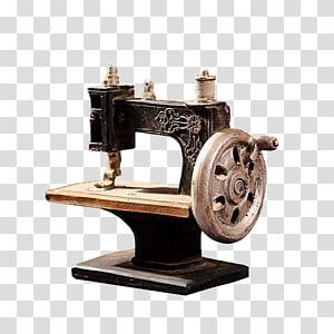 Sewing machine, Vintage sewing machine PNG