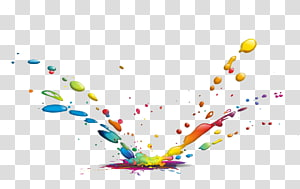 color splash water drops PNG