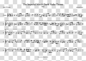 The Imperial March Sheet Music Trumpet Music of Star Wars Star Wars (soundtrack), sheet music PNG clipart