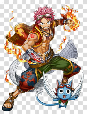 Fairytale Natsu Drageel illustration, Natsu Dragneel Erza Scarlet Fairy Tail Gray Fullbuster Wendy Marvell, fairy tail PNG