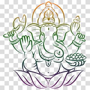Ganesha Ganesh Chaturthi Hinduism Om, ganesha PNG