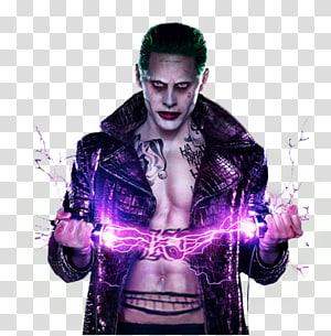 Jared Leto Joker Suicide Squad Coat Leather jacket, joker PNG