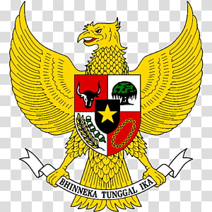 National emblem of Indonesia Coat of arms Garuda Pancasila, garuda pancasila, Bhinneka Tunggal Ika logo PNG clipart