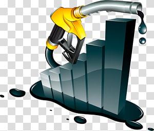gasoline hike graph illustration, Gasoline Fuel Petroleum Price Oil refinery, petrol pump PNG