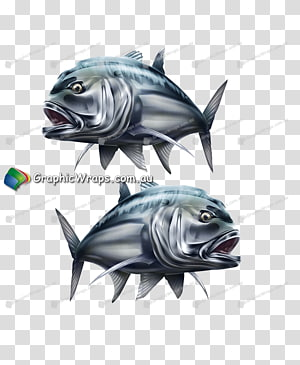 Giant trevally Fish, monster printing PNG clipart