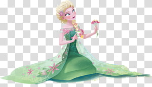 Disney Frozen Elsa in green dress illustration, Elsa Kristoff Hans Anna Olaf, frozen PNG clipart