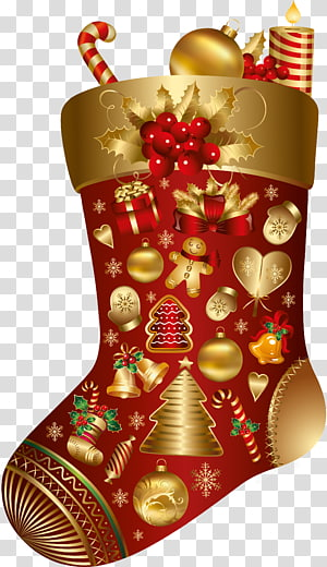 Christmas Santa Claus Wish New Year Happiness, boot PNG clipart