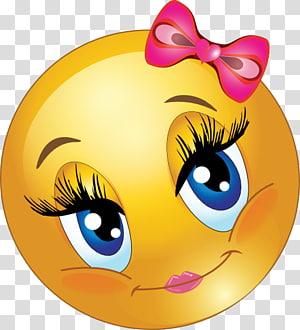 Emoticon Smiley Emoji , girl face PNG