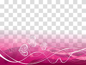 love pink ribbon decorative background PNG clipart