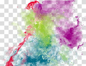 Colorful ink 01 PNG clipart