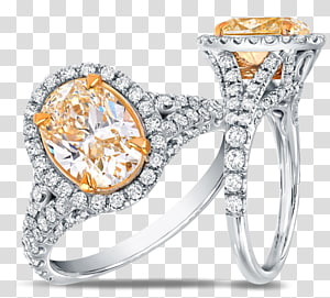 Engagement ring Diamond color Jewellery, yellow diamond flyer PNG clipart