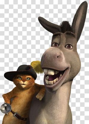 cartoon character , Donkey Puss in Boots Shrek Pinocchio Princess Fiona, Donkey PNG