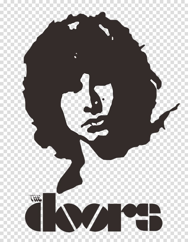 The Doors member illustration, The Doors Logo Black PNG clipart