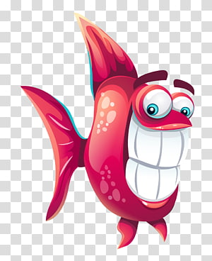 Funny fish Icon, Cartoon fish PNG clipart