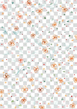 orange and red flowers , Textile Floral design Area Petal Pattern, Small floral pattern design element PNG