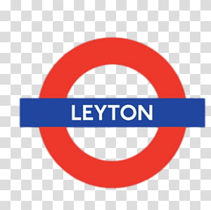 red and blue Leyton logo, Leyton PNG