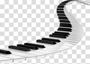 black and white electronic keyboard key illustration, Piano Musical keyboard , Piano PNG clipart