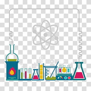 chemicals border illustration, Science project Microsoft PowerPoint Laboratory Experiment, science PNG clipart