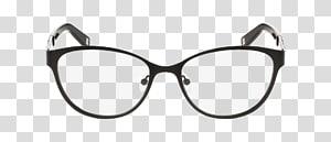 Glasses Light Optics Lens Eyeglass prescription, Cat Eye glasses PNG