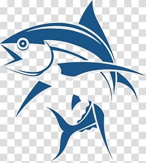 Tuna Fishing Fish as food, Cartoon fish logo, blue fish illustration PNG clipart