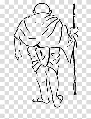 Drawing Sketch Dandi Gandhi Jayanti, american revolution easy drawings PNG