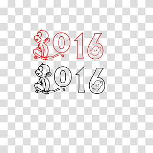 Typeface Designer Logo, 2016 Year of the Monkey 2016 digital font PNG clipart