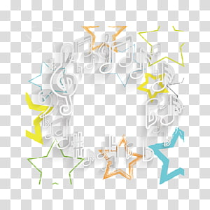 Musical note Star, Stars and musical notes PNG clipart