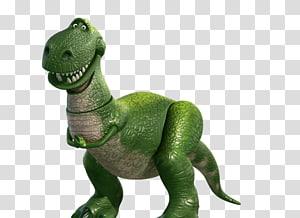 green dinosaur illustration, Jessie Buzz Lightyear Sheriff Woody Rex Toy Story, toy story PNG clipart