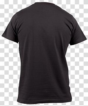 black shirt, Tshirt Black Back PNG clipart