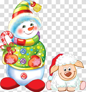 Ded Moroz Snegurochka Verse New Year Child, Christmas snowman PNG clipart